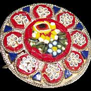Vintage Micro Mosaic Flower Pin/Brooch