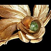Vintage 12K Gold-Filled Layered Rose Pin/Brooch