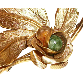 Vintage 12K Gold-Filled Layered Rose Pin/Brooch Signed Winard