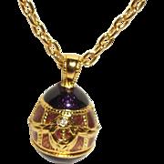 """Vintage Pendant Necklace Signed """"Berebi"""" Limited"""