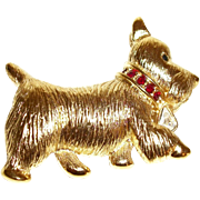 Vintage Napier Scotty Dog Figural Pin/Brooch