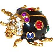 Vintage Be-Jeweled & Be-Dazzled Beetle Pin/Brooch