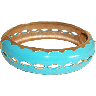 Vintage Hinged Bangle Bracelet