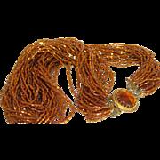 Vintage Multi-Strand Seed Bead Necklace