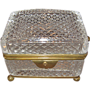 A Fine Antique 19th C. French Cut Crystal Box