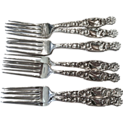 "Set of 8 Whiting ""Heraldic"" Pattern Forks, CA.1900"