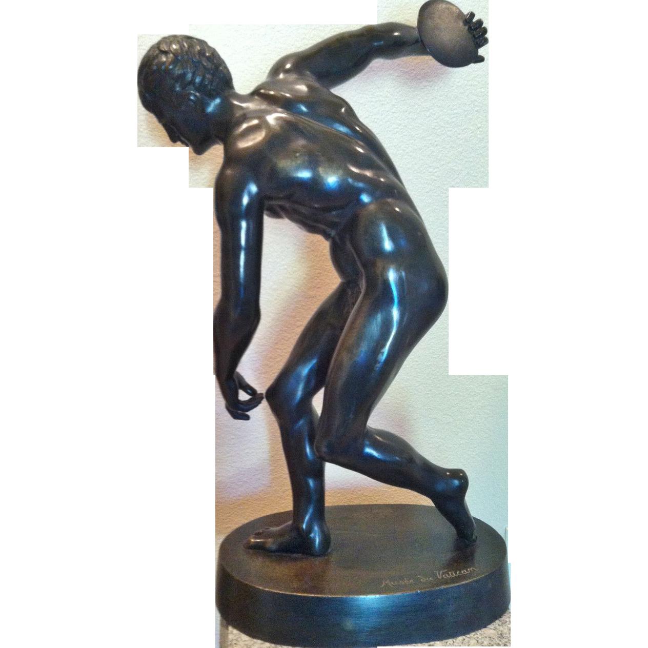 """""""Grand Tour"""" Bronze Figure of """"Discobolus""""(Discus Thrower), 19th Century"""