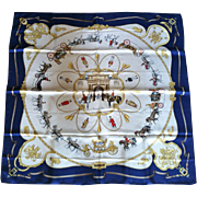 "Rare Original Hermes Scarf ""The Royal Mews"", Ltd.Ed. 1994"