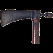 19th Century Fur Trade Axe/Pipe Tomahawk, Native American/Canadian, Bronze Head