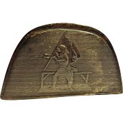 """Rare French Napoleonic Period """"Snuff Box"""", Form of a Two Cornered Hat, in Horn"""