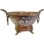 A Large Antique Chinese Rose Medallion-Canton Punch or Center Bowl, CA.1880