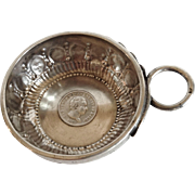 An Antique Swiss Wine Taster (Tastevin), with a Swiss Silver Coin dated 1827