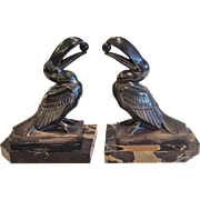"""Vintage Pair of """"Frecourt"""" Toucan Bookends, CA.1920's"""