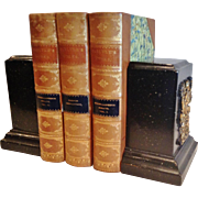"""Pair of Vintage """"Borghese"""" Bookends, CA.1930's"""