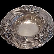 Floral Art Nouveau Sterling Bon-Bon Dish by Alvin, CA.1900