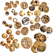 Antique Buttons..a Small Collection - CA.1860-1890