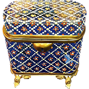 Antique Moser Enamelled Jewel Casket, CA.1880