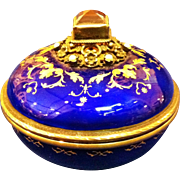 Antique Silver Gilt, Enamel & Gold Box, Amethyst & Pearls, CA.1890