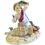 "Meissen ""Putti"" Fisherman"
