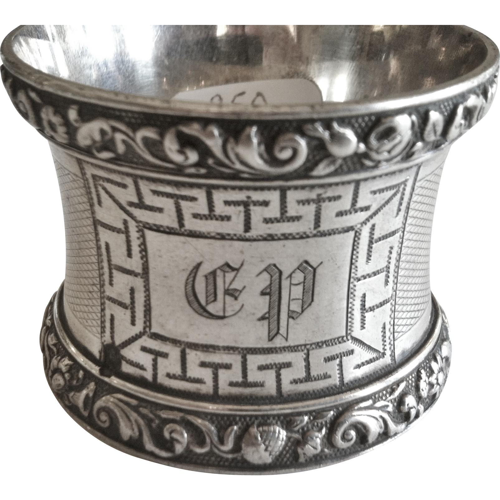 Silver Napkin Ring, French -  Napoleon III, 19th Century