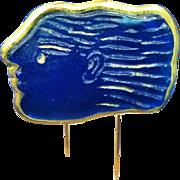 Rare Daum Pate de Verre Brooch or Pin, by Alexandre Fassianos, CA.1990's