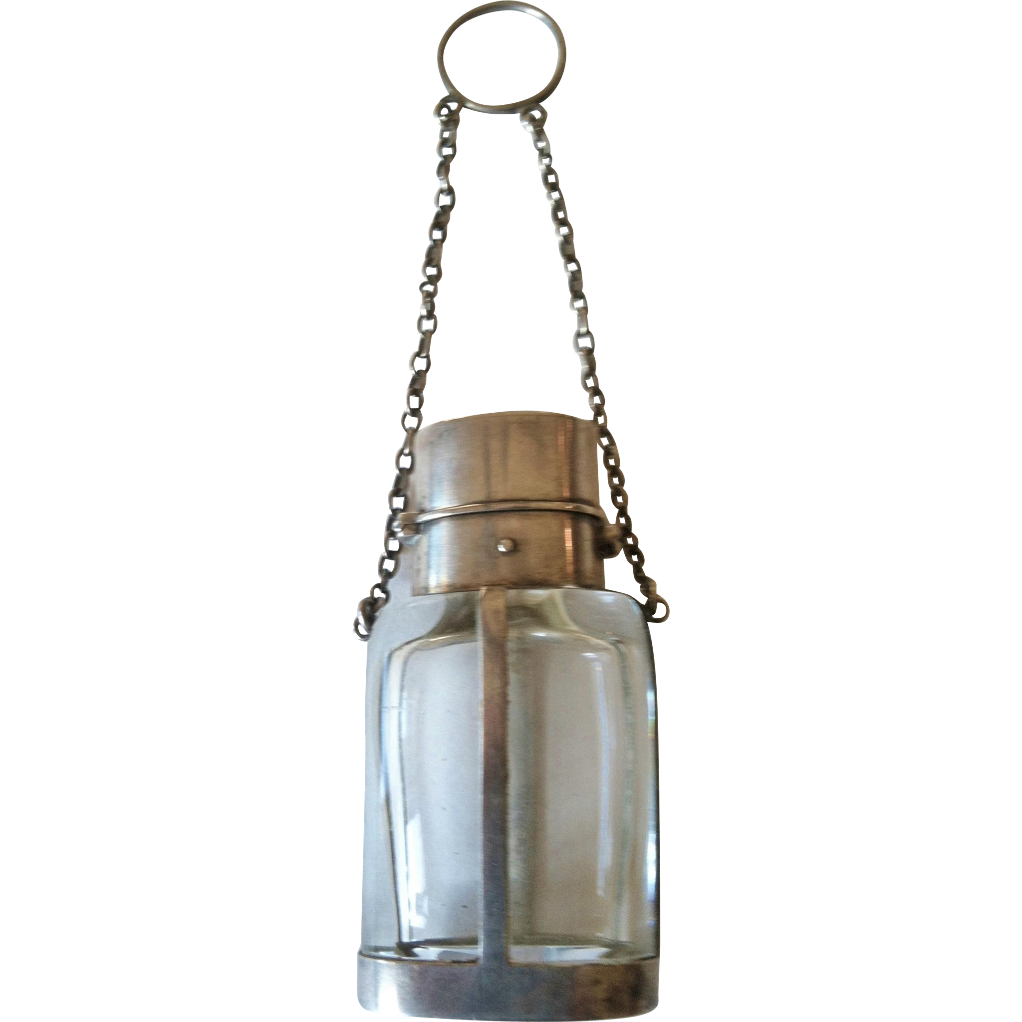 Chatelaine Perfume Bottle,Silver,Hancock&Sons,CA.1880
