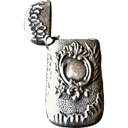 Petite Antique Match Safe or Vesta, Silver, CA.1880