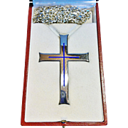 Greek Pectoral Cross in French Silver