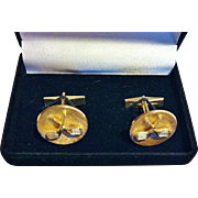 14KT Cuff Links, Golf Clubs, CA.1950's