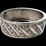 Silver Bracelet, Vintage, Piecerced Design in .800 Silver, CA.1930's