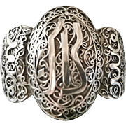 Silver Bracelet, Moroccan or Algerian, Filigree Work, CA.1920's, French Colonial
