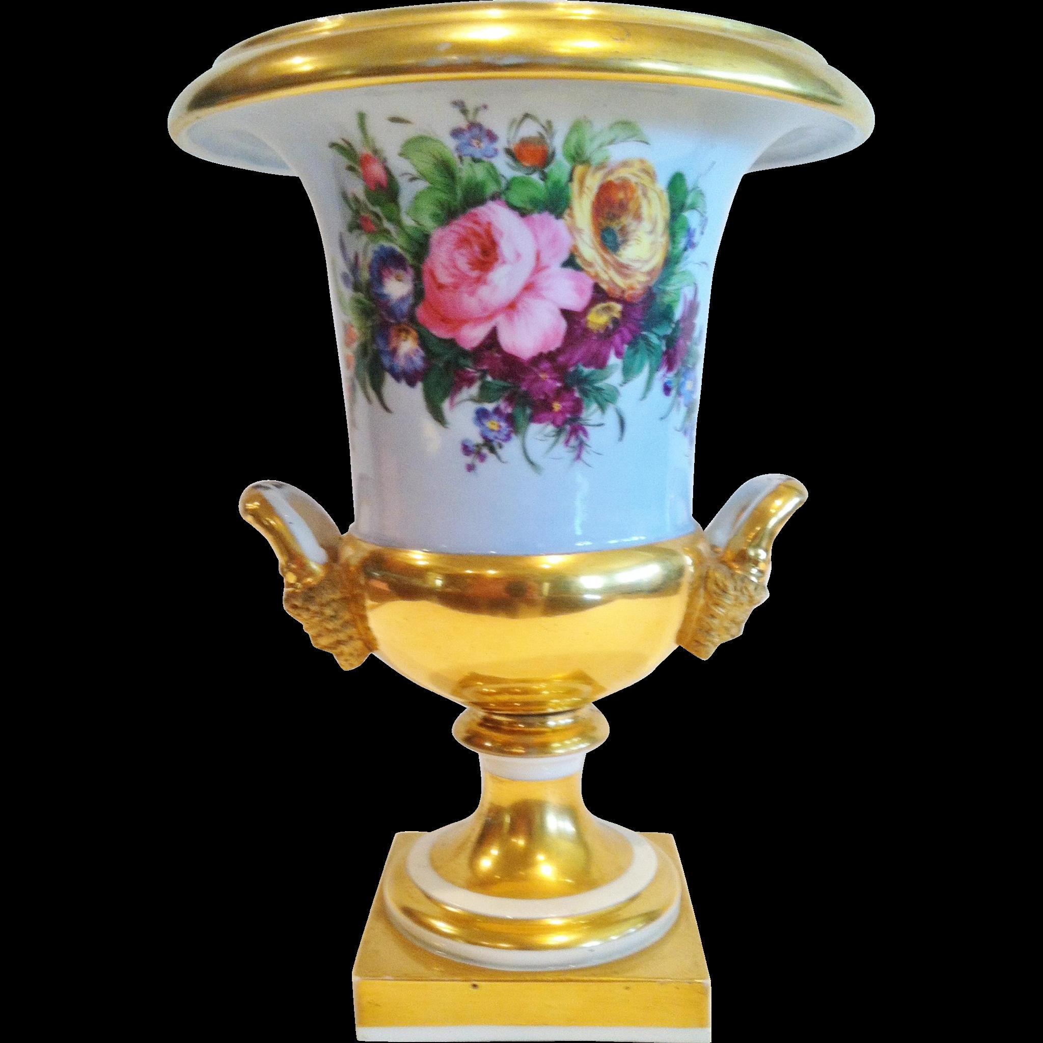 """Old Paris Campania Form Vase, """"Darte Freres"""", Paris CA.1810-1830"""