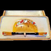 Japanese Hair Ornament Set, Inlaid Bakelite, CA.1920's Vintage