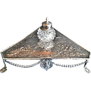 Inkwell Stand, English Sterling, 1817 Hallmarks