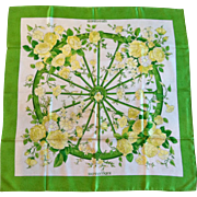 "Hermes Silk Scarf, titled ""Romantique"", Maurice Tranchant 1973"