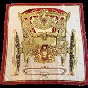 """Hermes Silk Scarf, """"Grand Carrosse Pour un Ambassadour, Lise Coutin, 1961"""