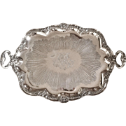 Tea Tray, French Louis XV, Silverplate, Paris1840's