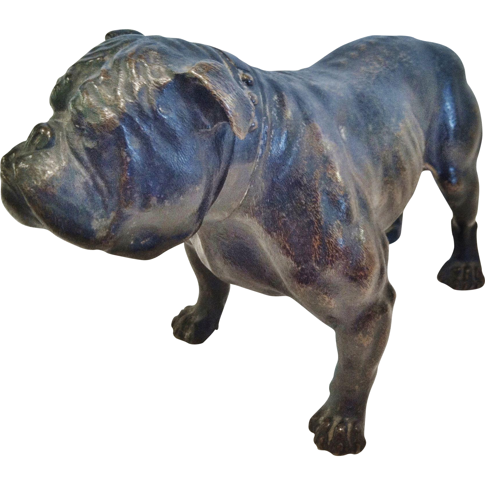 Bronze Bulldog by Chas Curry, 1908