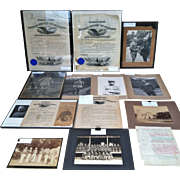 Military History, Photographs, Original Presidential Signatures, 1894-1920's from the Colonel Barker Estate