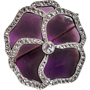 "Antique Cartier Brooch, a ""Pansy"", 18kt Gold, Diamonds, CA.1910"