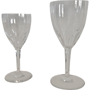 Set of Baccarat Genova Pattern Cut Crystal Stemware, 16 Stems