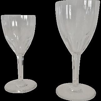 Set of Baccarat Genova Pattern Cut Crystal Stemware, 16 Stems