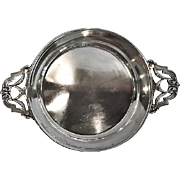 19th Century French Silver Double Handled Wine Taster/Coaster