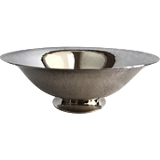 Georg Jensen Hammered Sterling Bowl, Denmark