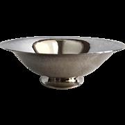 Georg Jensen Hammered Sterling Bowl, Denmark
