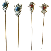 Antique Stickpins, Group of 4, CA.1910