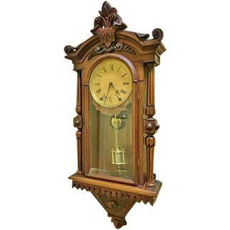 Victorian Wall Regulator Clock, F.Kroeber #8