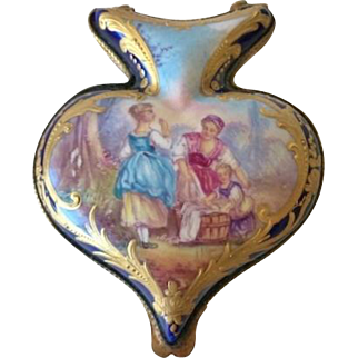 19th C. French Patch Box, Soft Paste