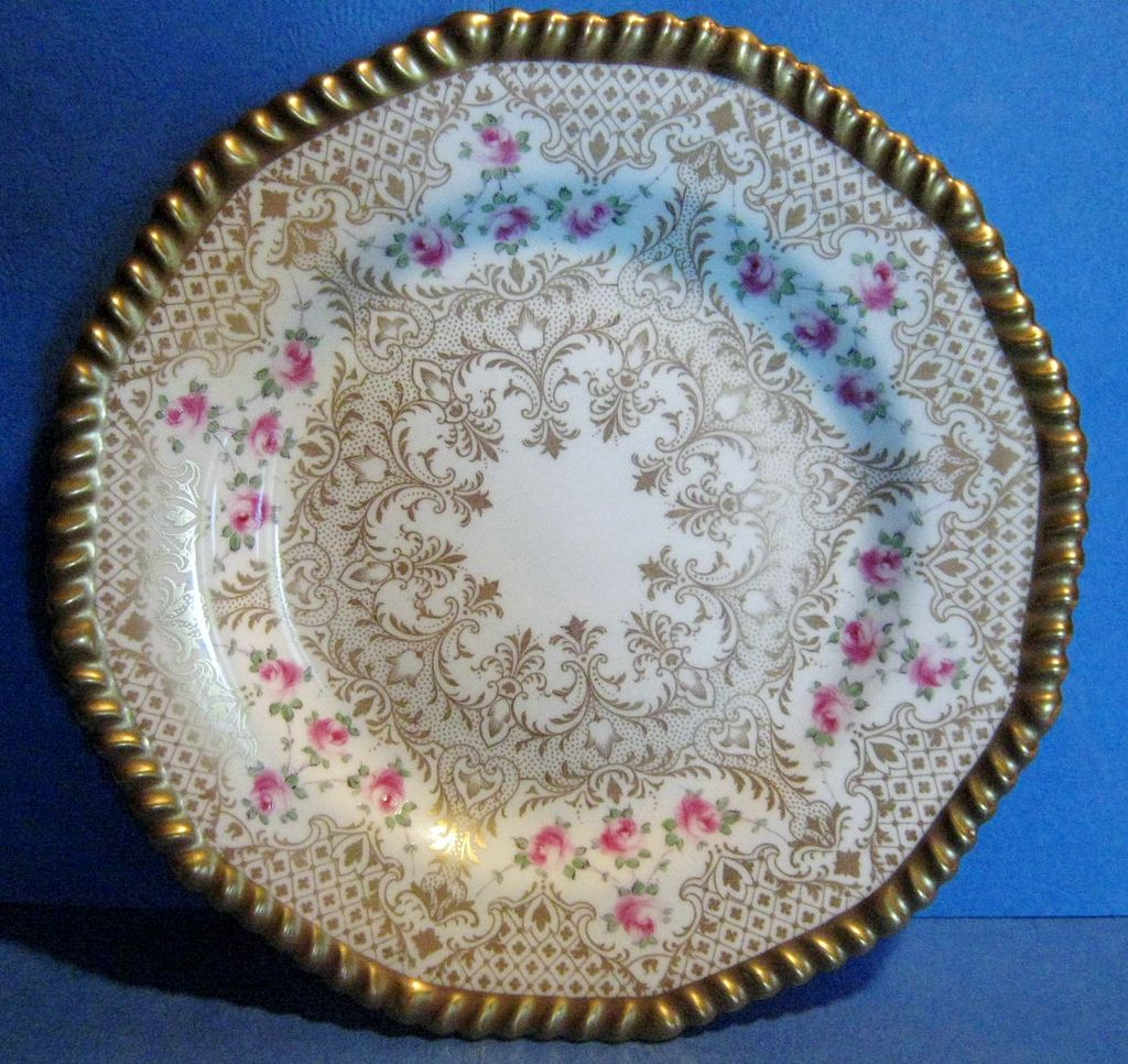 Set of 10 antique Wedgwood Cabinet Plates, 1878-1910 Mark