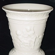 Capri by von Schierholz White Footed Vase with Cherubs (Germany)